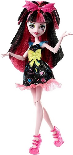 Monster High DVH67 Electrified Hair-Raising Ghouls Draculaura Doll