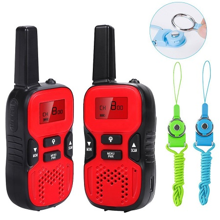 kids Walkie Talkies 2 mile Handheld Portable 2 Way Radio for Children Toy